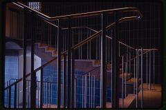 Milwaukee Art Museum (originally Milwaukee War Memorial), Milwaukee, Wisconsin, 1952-57. Stair detail